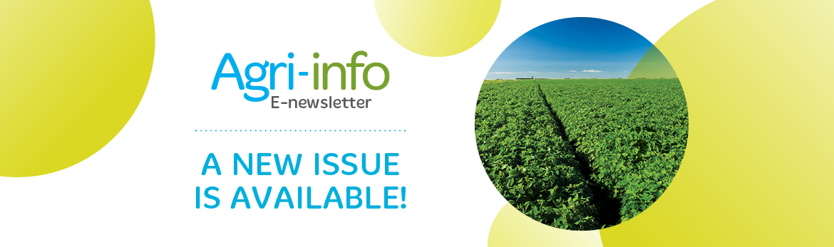 Agri-info E-newsletter: a new issue is available!