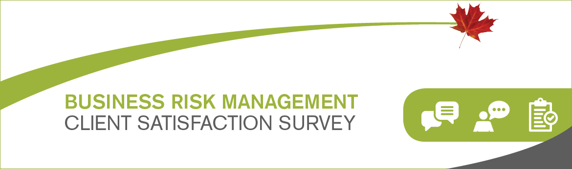 A graphic image with the text 'Business Risk Management client satisfaction survey'.