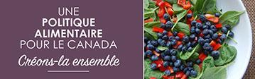 Une politique alimentaire pour le Canada – Créons-la ensemble