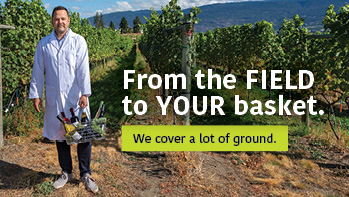 From the field to your basket. We cover a lot of ground