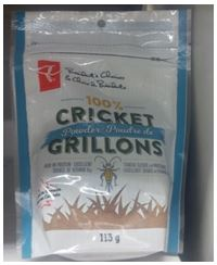 Cricket flour sold by Loblaws in Canada under the brand President Choice