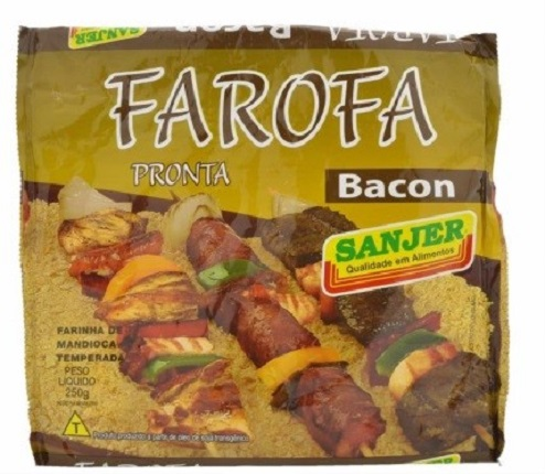 Bacon flavored seasoned manioc flour