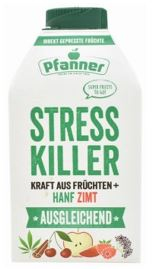 Stress Killer multi-fruit juice with cinnamon and hemp extract