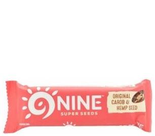 Nine Super Seeds bar with carob and hemp seed