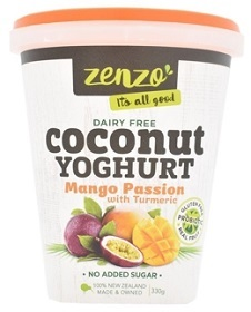 Zenzo's Mango Passion Coconut Yoghurt with Turmeric
