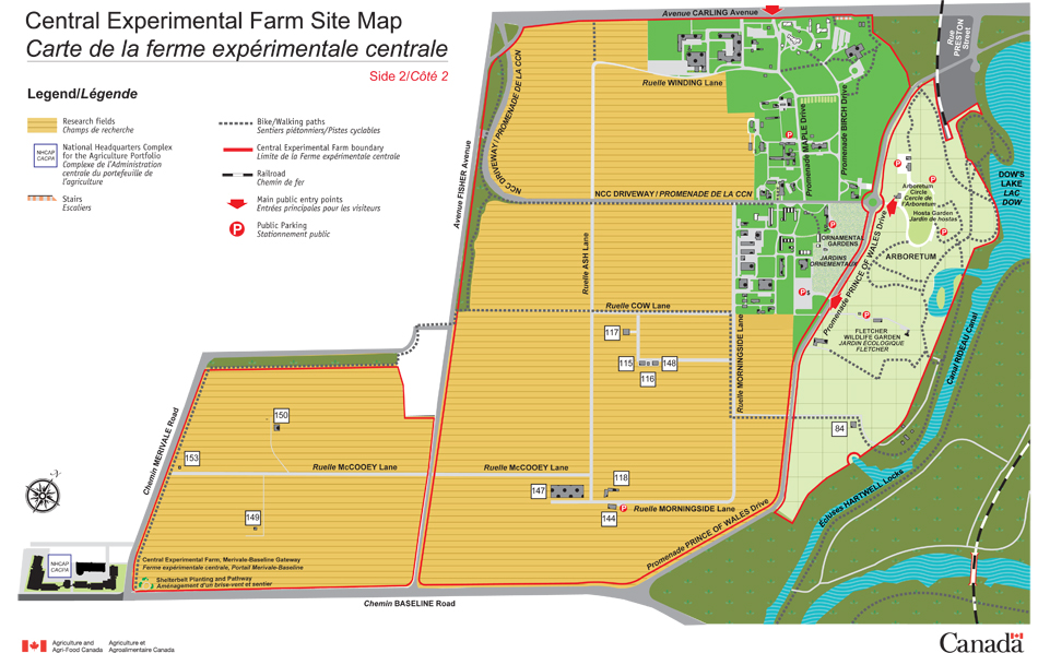 Central Experimental Farm Site Map