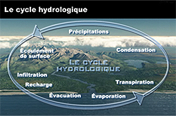 Capture d'écran de l'animation Le cycle hydrologique