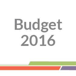 Budget 2016 above green, orange and grey lines