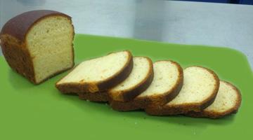 Lentil bread, made from 58% red split lentil flour.