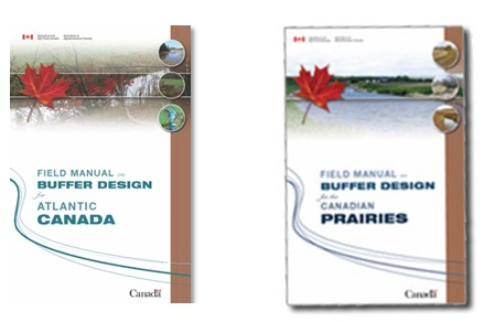 Covers for the Field Manual on Buffer Design for Atlantic Canada and for the Canadian Prairies