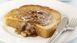 The Best French Toast with Maple Almond Topping
