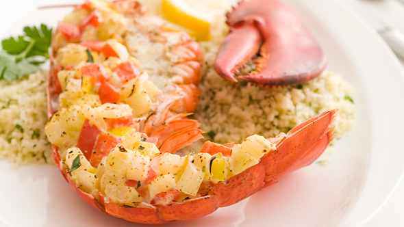 Stuffed and Roasted Lobster