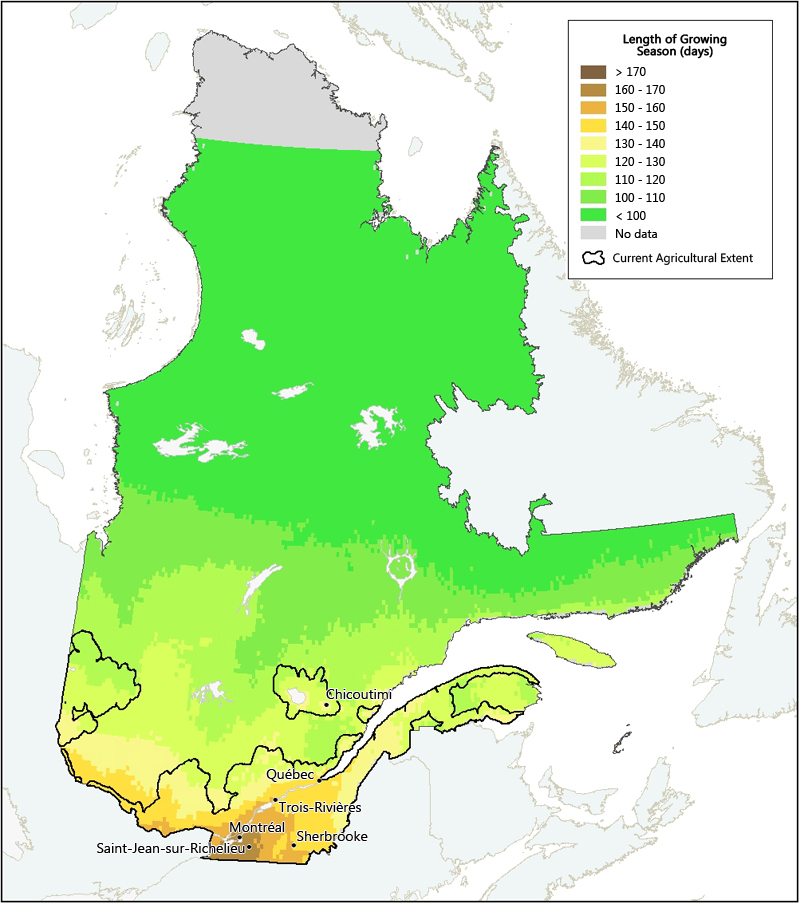 Length Of Growing Season In Quebec Agriculture And Agri Food