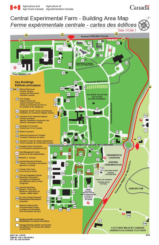 Carte indiquant l'emplacement du Centre pour la lutte antiparasitaire
