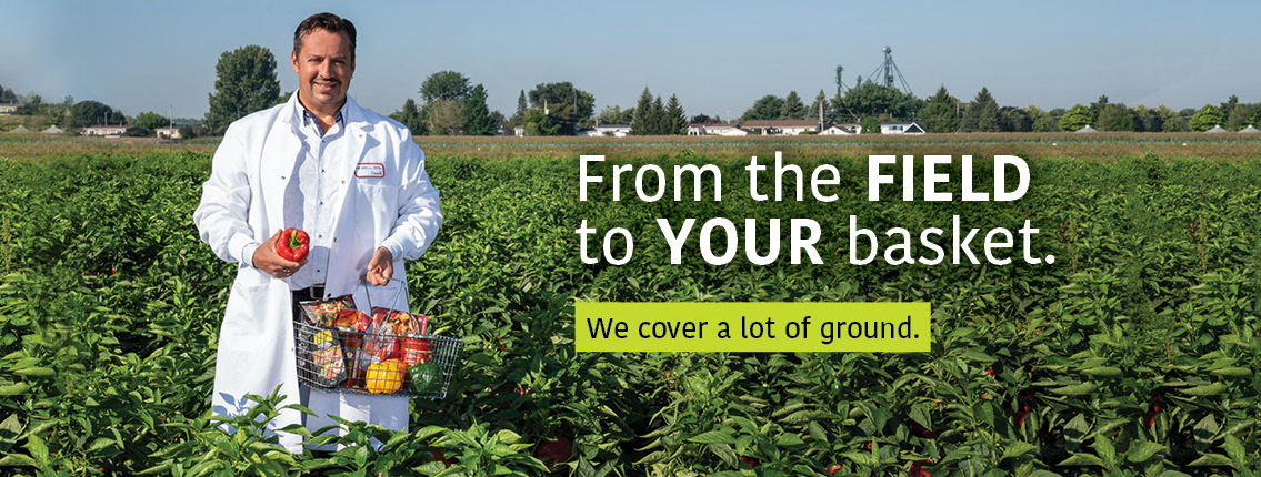 Dr. Tony Savard: From the field to your basket. We cover a lot of ground.