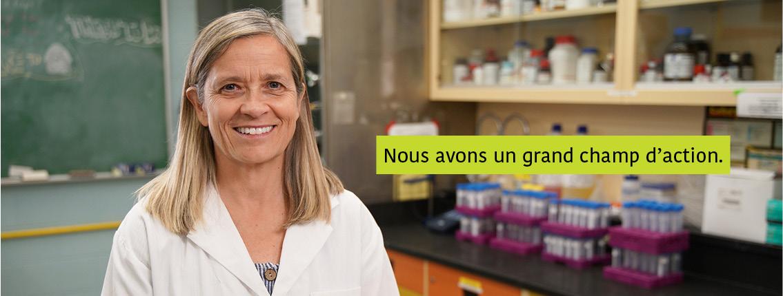 Karen Beauchemin dans son laboratoire. Texte : Nous avons un grand champ d'action