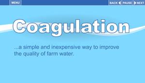 Screenshot of the animation Coagulation.